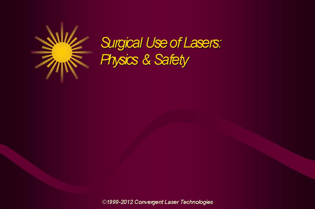 Laser Safety Slide 1